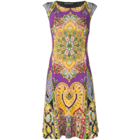 Etro Paisley-Print Dress - Roxo