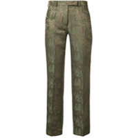 Etro Printed Tailored Trousers - Verde