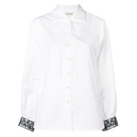 Etro Sequined Cuffs Shirt - Branco