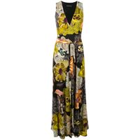 Etro Sleeveless Floral Maxi Dress - Marrom
