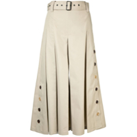 Eudon Choi Belted Cropped Trousers - Neutro