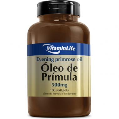 Evening Primose Oil 500 Mg 100 Cáps - Vitaminlife-Feminino