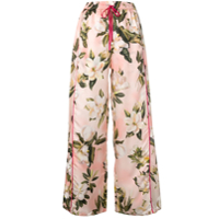 F.r.s For Restless Sleepers Calça Pantalona Floral - Rosa