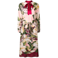 F.r.s For Restless Sleepers Vestido Mangas Longas Com Estampa Floral - Rosa