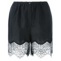 Faith Connexion Short Com Renda - Preto