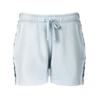 Faith Connexion Short De Moletom Com Listra Lateral - Azul
