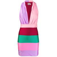 Fausto Puglisi Vestido Mini Color Block - Rosa