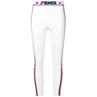 Fendi Legging Cropped Com Logo - Branco