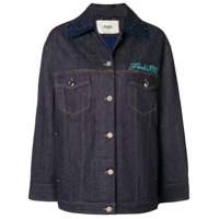 Fendi Embellished Denim Jacket - Azul