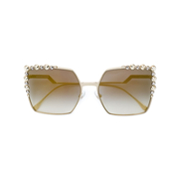 Fendi Eyewear Óculos De Sol 'can Eye' - Metálico