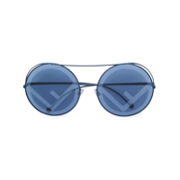 Fendi Eyewear Óculos De Sol 'run Away' - Azul
