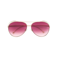 Fendi Eyewear Óculos De Sol 'run Away' - Metálico