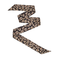 Fendi Logo Splash Print Wrappy Scarf - Preto