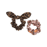 Fendi Conjunto Com 2 Hairbands - Rosa