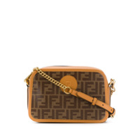 Fendi Small Ff Logo Camera Bag - Marrom