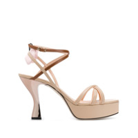 Fendi Two Tone Strappy Sandals - Neutro