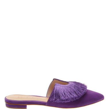 Flat Mule Fringes Purple | Schutz