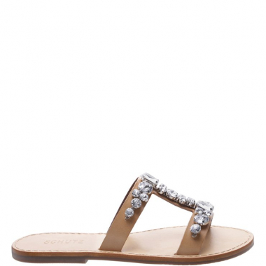 Flat Slide Glam Neutral | Schutz