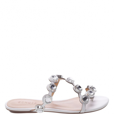 Flat Slide Metallic Studs White | Schutz