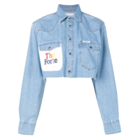 Forte Dei Marmi Couture Camisa Jeans Cropped - Azul