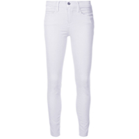 Frame Le High Skinny Raw Edge Jeans - Roxo