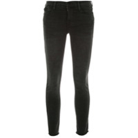 Frame Low Rise Skinny Cropped Jeans - Preto