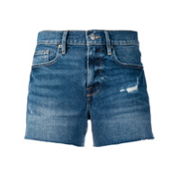 Frame Short Jeans Destroyed - Azul