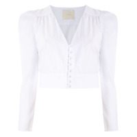 Framed Top Cropped Lotus - Branco