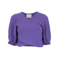 Framed Top Cropped 'superb' Canelado - Roxo