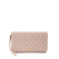 Furla Quilted Logo Clutch - Neutro