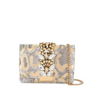 Gedebe Cliky Python Shoulder Bag - Dourado