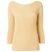 Gentry Portofino Ribbed Knit Sweater - Amarelo
