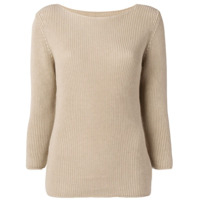 Gentry Portofino Ribbed Knit Sweater - Neutro