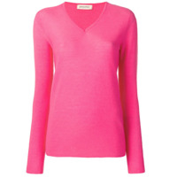 Gentry Portofino V-Neck Sweater - Rosa