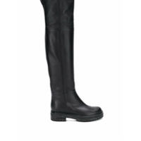 Gianvito Rossi Bota Over The Knee De Couro - Preto