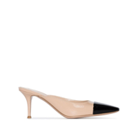 Gianvito Rossi Sapato Mule Bicolor 70Mm - Neutro