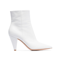 Gianvito Rossi White 45 Leather Ankle Boots - Branco