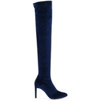 Giuseppe Zanotti Bota over-the-knee de veludo - Azul