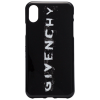 Givenchy Black And White Faded Logo Print Iphone X Phone Case - Preto