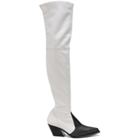 Givenchy Bota over-the-knee de couro - Branco