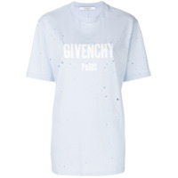 Givenchy Camiseta Destroyed 'givenchy Paris' - Azul