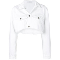 Givenchy Jaqueta Jeans Cropped - Branco