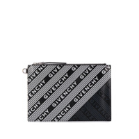 Givenchy Emblem Medium Clutch - Preto
