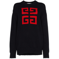 Givenchy Suéter '4G' - 409 Marine Rouge