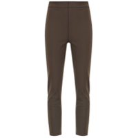 Gloria Coelho High-Waisted Trousers - Marrom