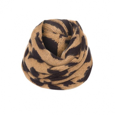 Gola Tricot Animal Onça Shoulder - Animal Print - Gola Tricot Animal Onça Shoulder - Marrom