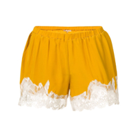 Gold Hawk Short Com Renda Na Barra - Amarelo