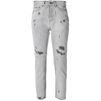 Golden Goose Deluxe Brand Calça Jeans Cropped - Cinza