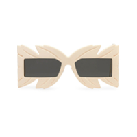 Gucci Eyewear Mask-Frame Sunglasses - Neutro