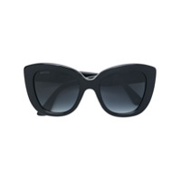 Gucci Eyewear Oversized Cat-Eye Sunglasses - Preto
